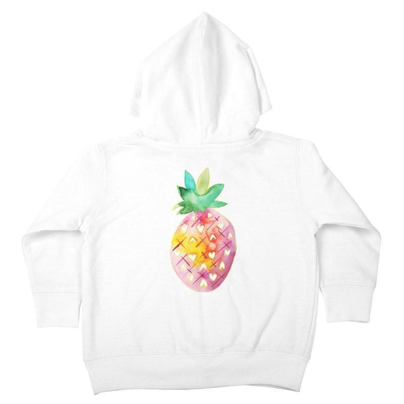 Sweet pineapple Kids Toddler Zip-Up Hoody by Jucel Meneses