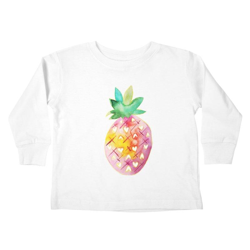 Sweet pineapple Kids Toddler Longsleeve T-Shirt by Jucel Meneses
