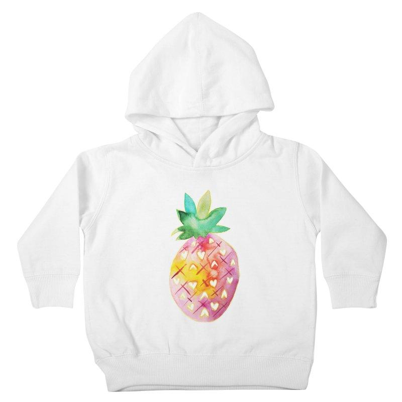 Sweet pineapple Kids Toddler Pullover Hoody by Jucel Meneses