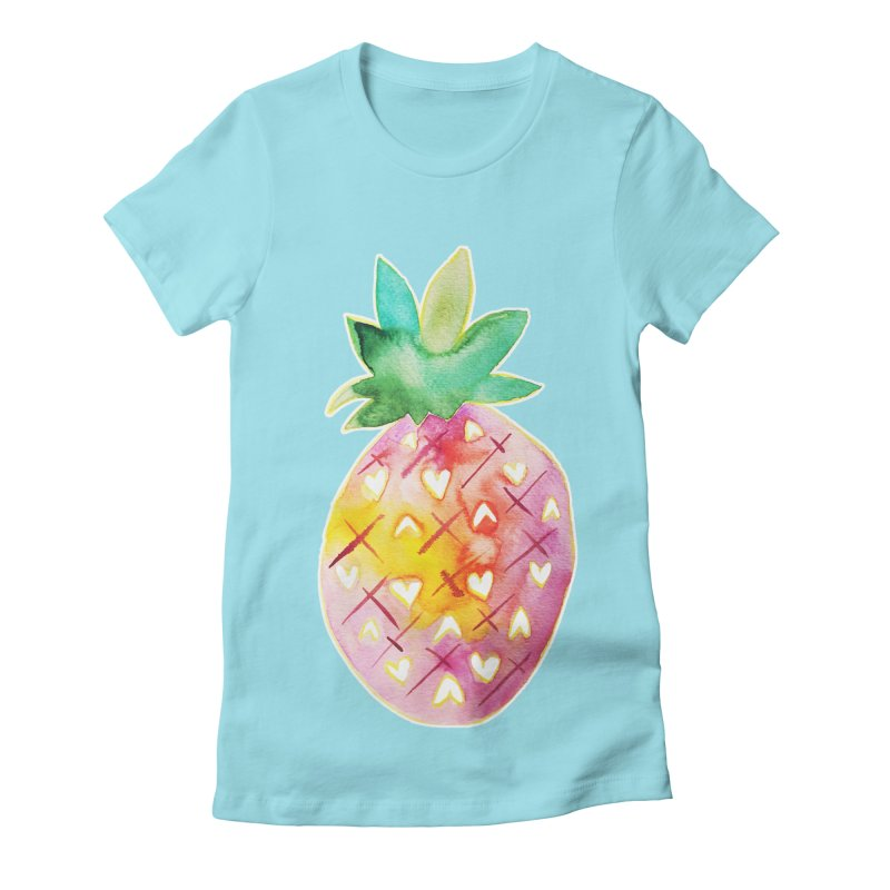 Sweet pineapple Women's Fitted T-Shirt by Jucel Meneses