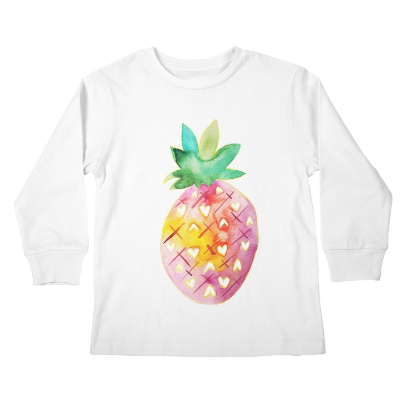 Sweet pineapple Kids Longsleeve T-Shirt by Jucel Meneses