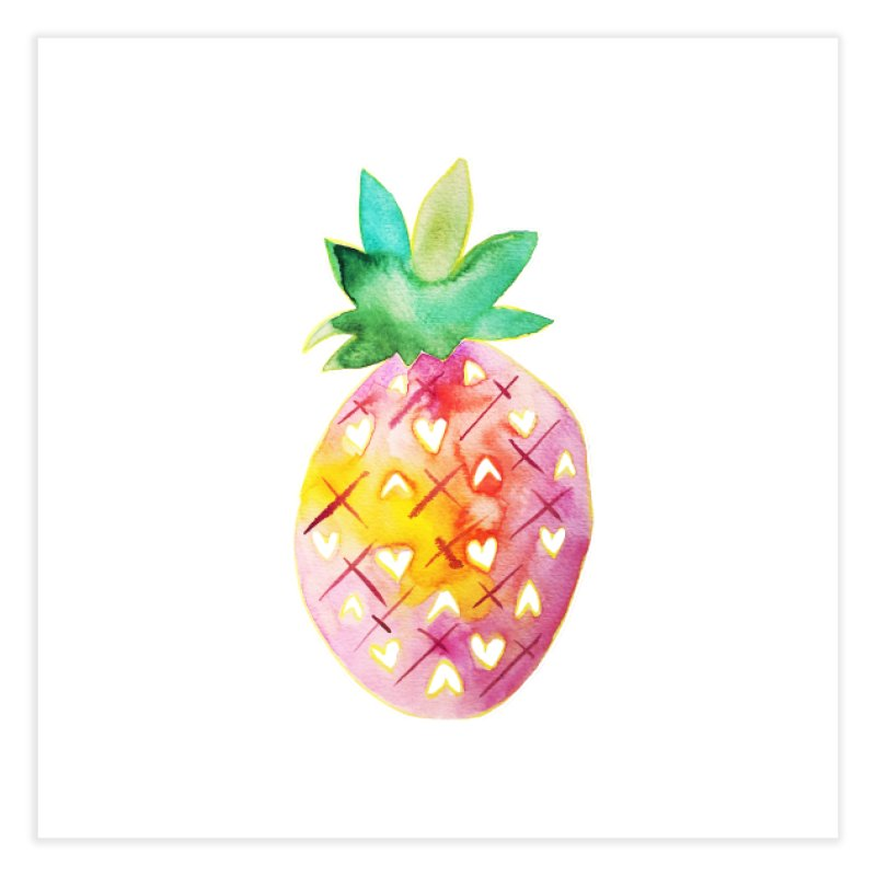 Sweet pineapple Home Fine Art Print by Jucel Meneses