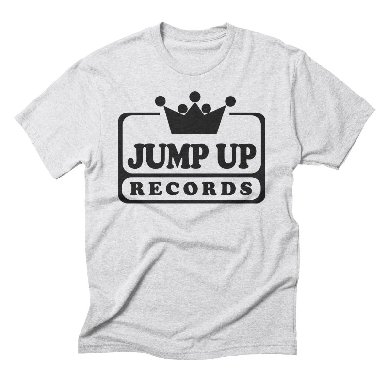 JUMP UP RECORDS in Men's Triblend T-Shirt Heather White by Jump Up Records