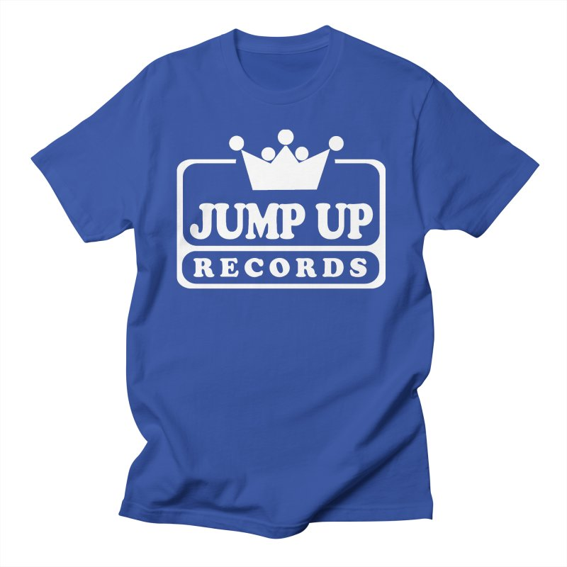 JUMP UP RECORDS_white in Men's Regular T-Shirt Royal Blue by Jump Up Records