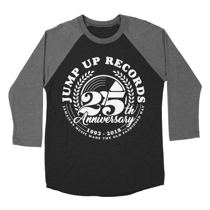 Jump Up 25th Anniversary Circle in Men's Baseball Triblend Longsleeve T-Shirt Grey Triblend Sleeves by jumpuprecords's Artist Shop