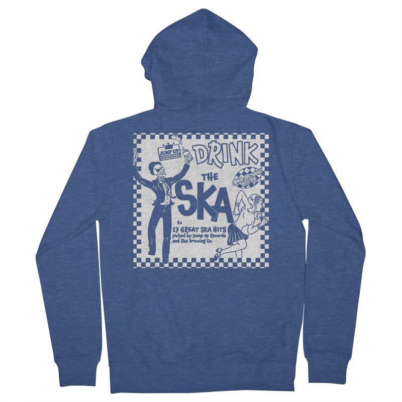 DRINK THE SKA in Men's French Terry Zip-Up Hoody Heather Royal by Jump Up Records