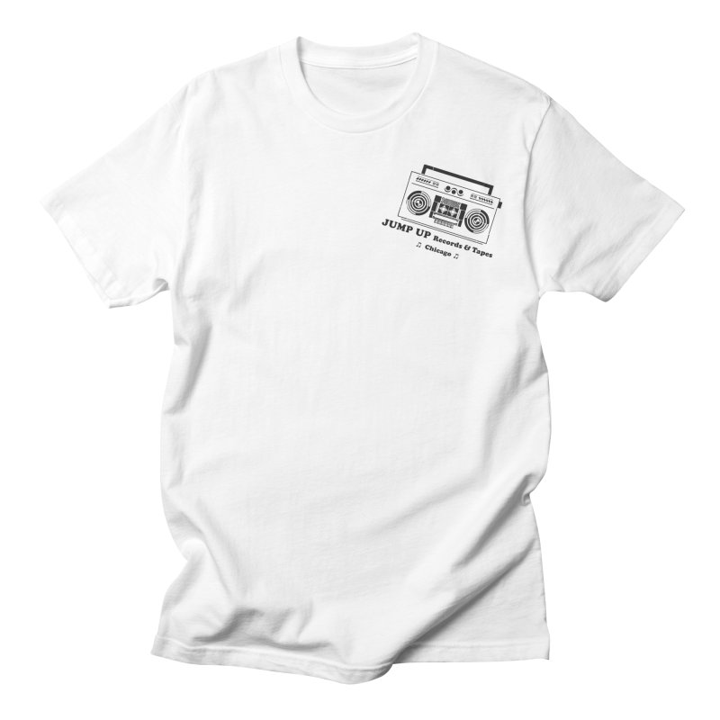 JUMP UP Cassette Store Day Black Pocket in Men's Regular T-Shirt White by jumpuprecords's Artist Shop