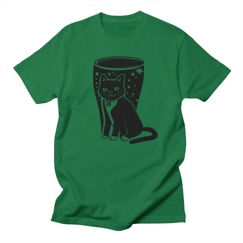 Galaxy Beer Cat Men's T-Shirt by jumpy's Artist Shop