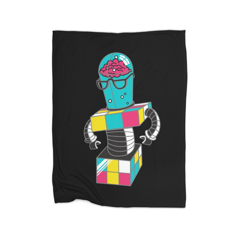 CubeBot Home Blanket by jumpy's Artist Shop