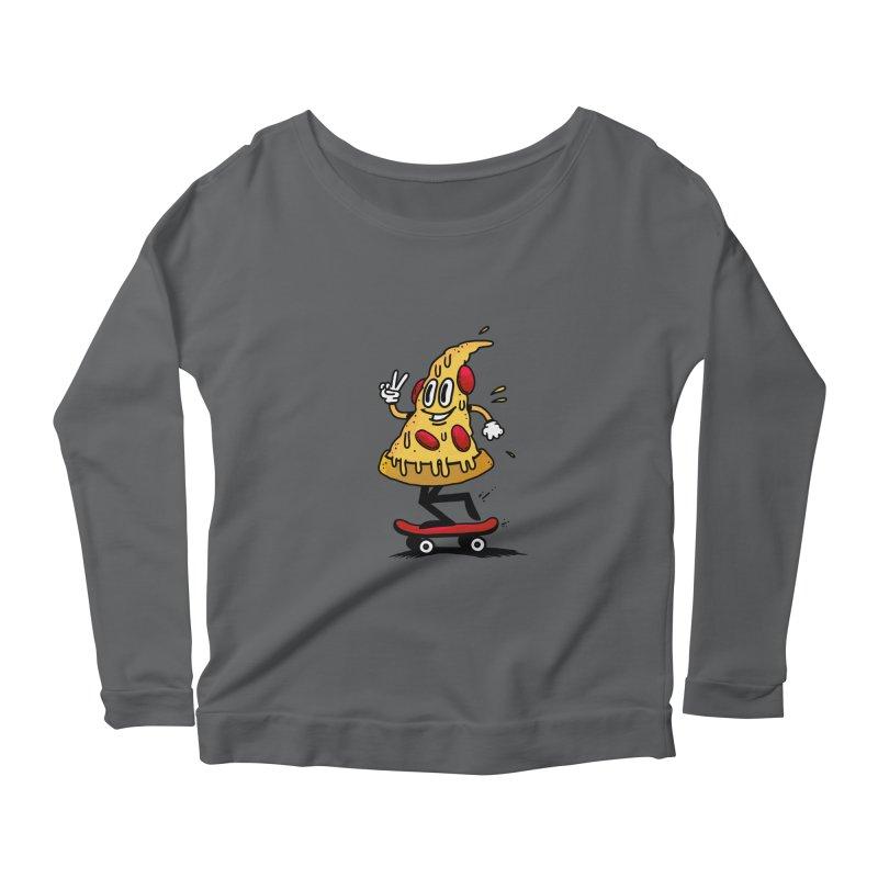 Pizza boy Women's Longsleeve T-Shirt by jumpy's Artist Shop
