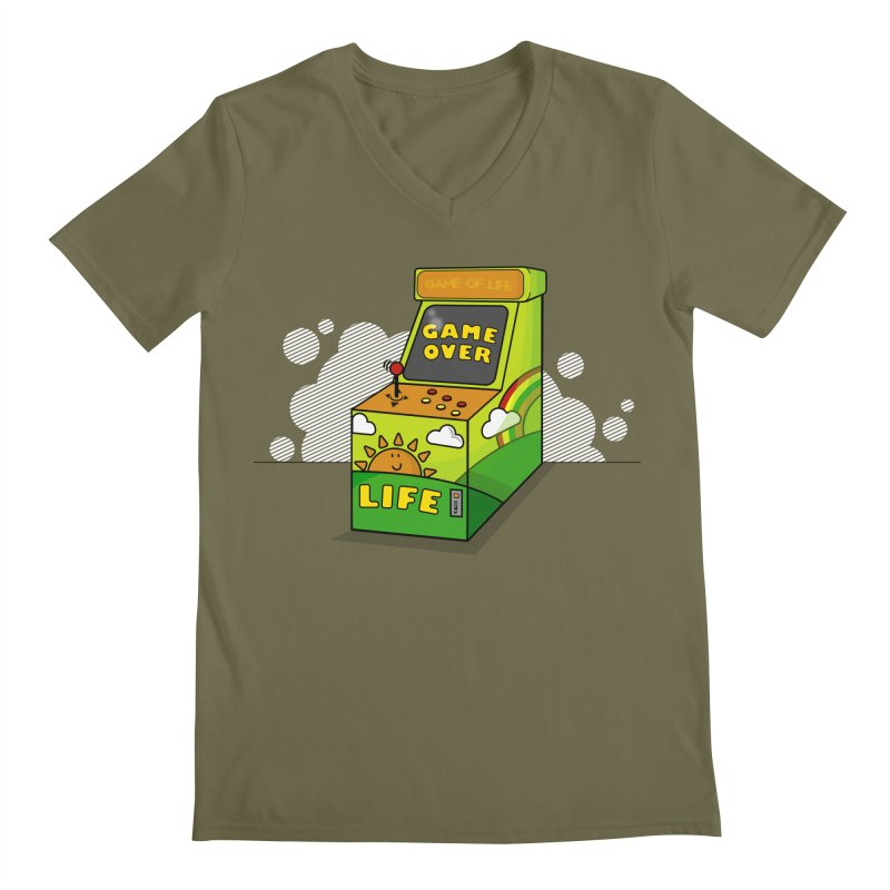 Game of Life Men's V-Neck by jumpy's Artist Shop