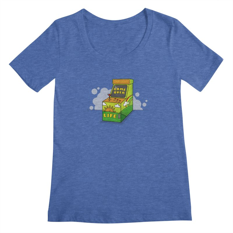 Game of Life Women's Scoopneck by jumpy's Artist Shop