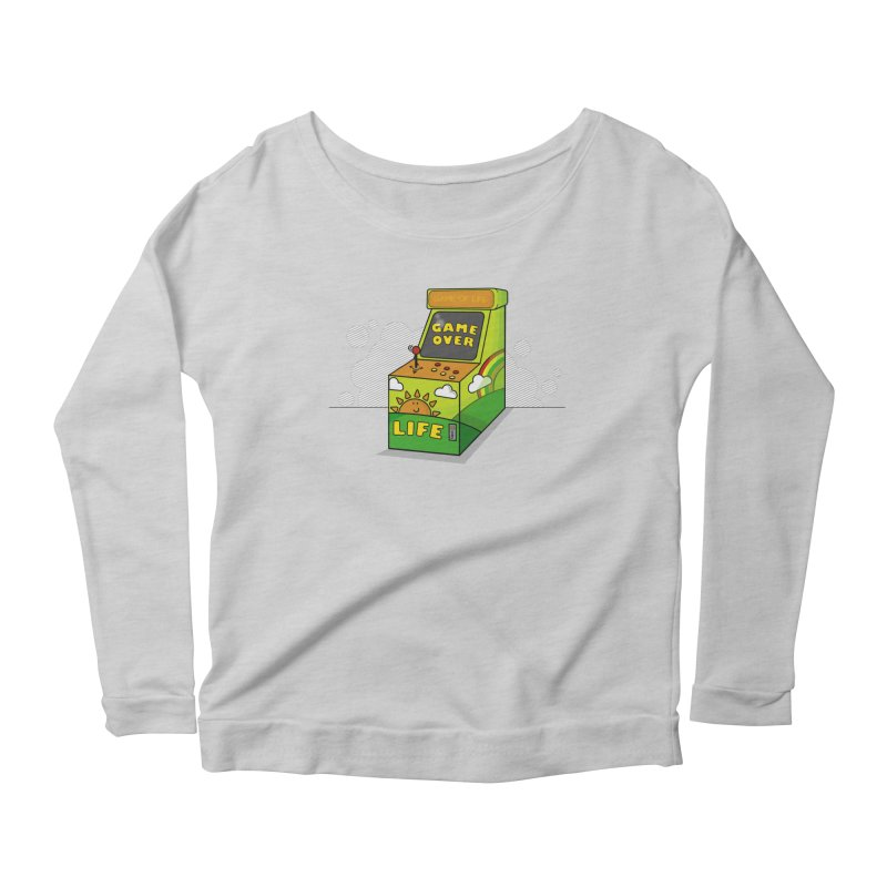 Game of Life Women's Longsleeve Scoopneck  by jumpy's Artist Shop