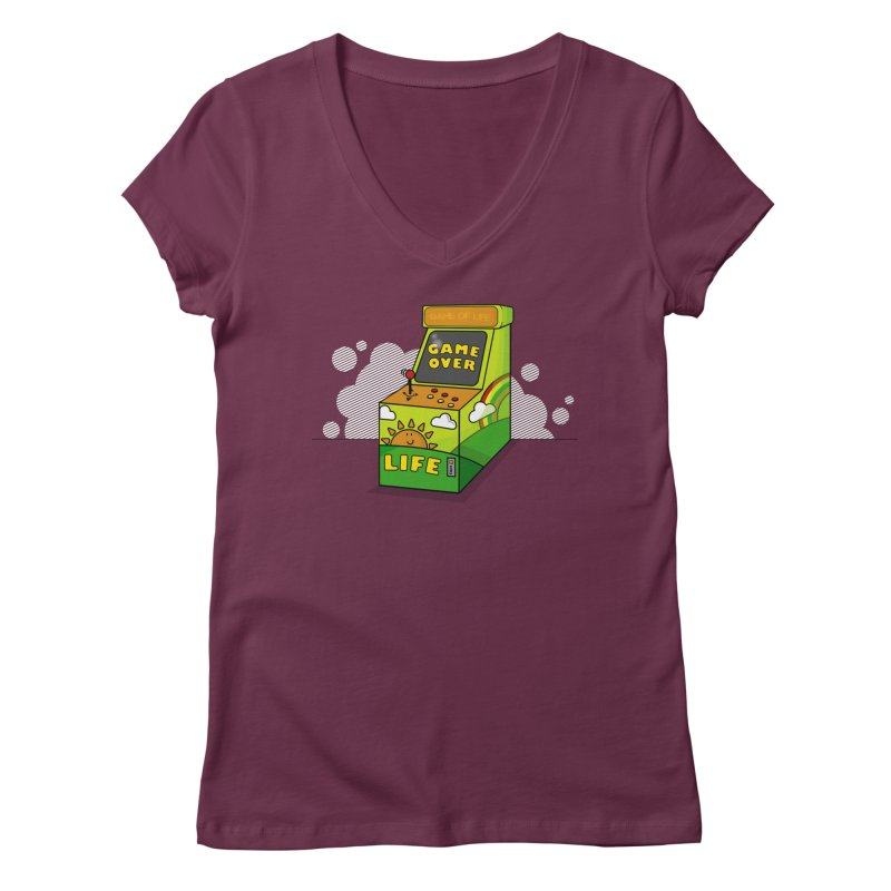 Game of Life Women's V-Neck by jumpy's Artist Shop