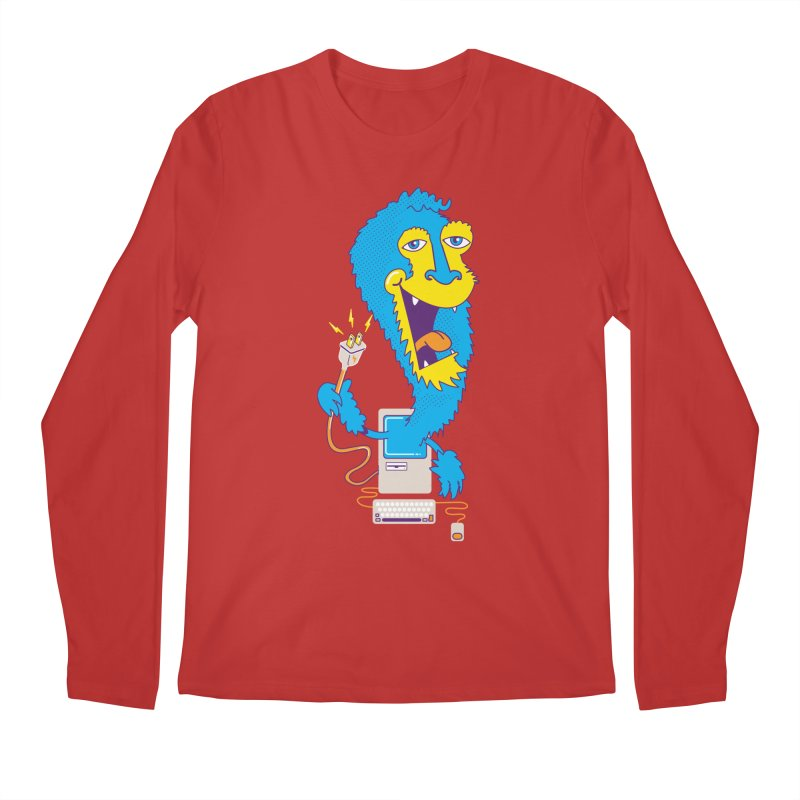 Macintosh the Monster Men's Longsleeve T-Shirt by jumpy's Artist Shop