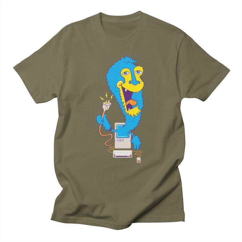 Macintosh the Monster Men's T-shirt by jumpy's Artist Shop