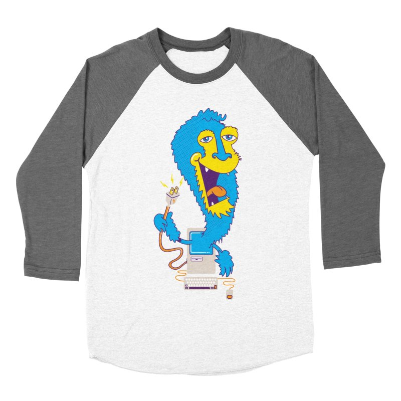 Macintosh the Monster Women's Baseball Triblend T-Shirt by jumpy's Artist Shop
