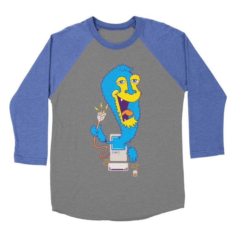Macintosh the Monster Women's Baseball Triblend T-Shirt by jumpy's Artist Shop