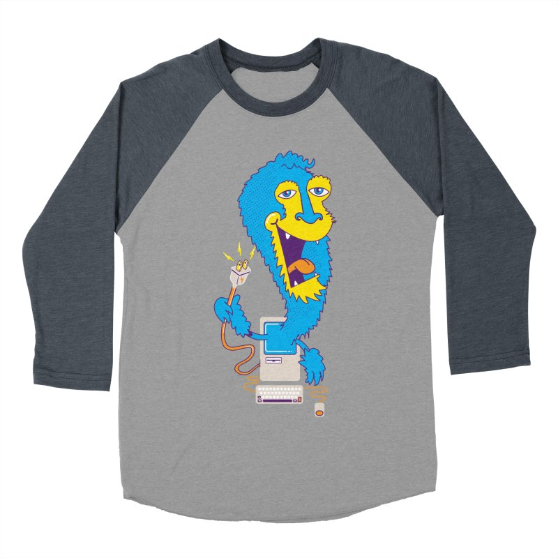 Macintosh the Monster Men's Baseball Triblend T-Shirt by jumpy's Artist Shop
