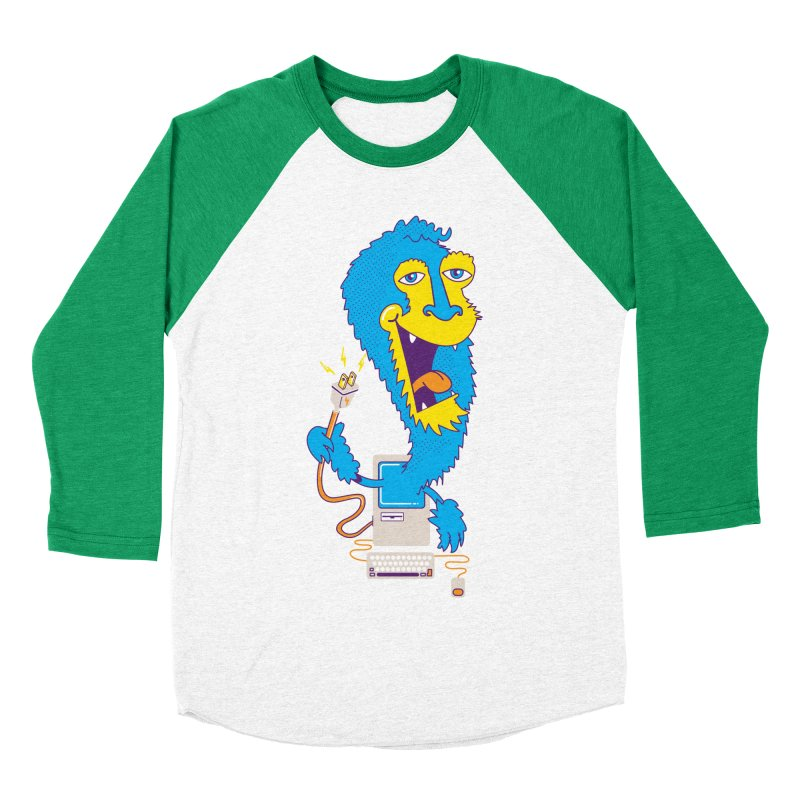 Macintosh the Monster Men's Baseball Triblend T-Shirt by jumpy's Artist Shop