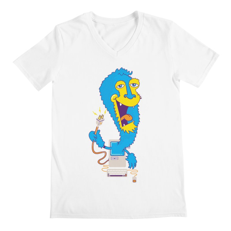 Macintosh the Monster Men's V-Neck by jumpy's Artist Shop