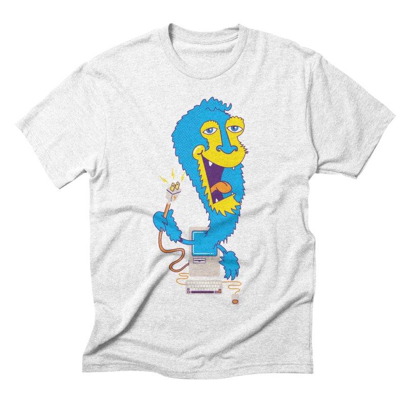Macintosh the Monster Men's Triblend T-shirt by jumpy's Artist Shop