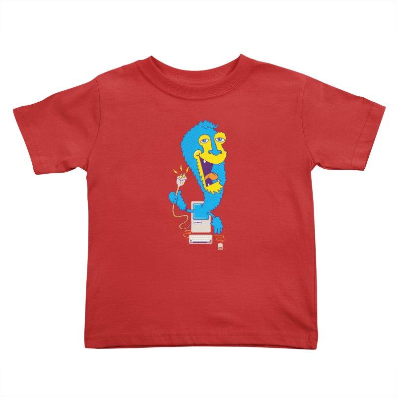 Macintosh the Monster Kids Toddler T-Shirt by jumpy's Artist Shop