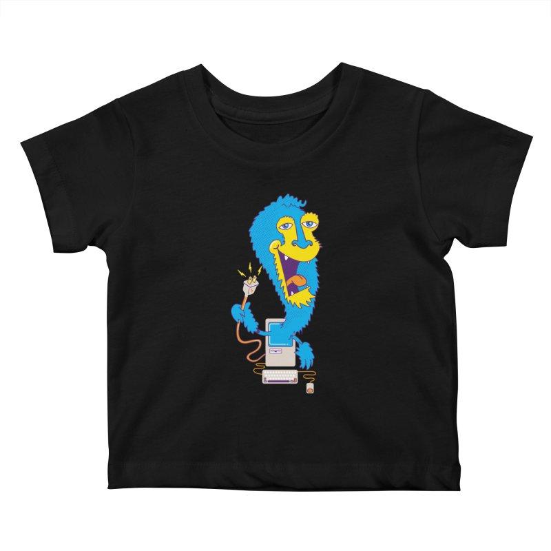 Macintosh the Monster Kids Baby T-Shirt by jumpy's Artist Shop