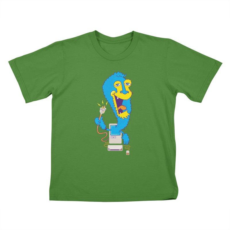 Macintosh the Monster Kids T-Shirt by jumpy's Artist Shop