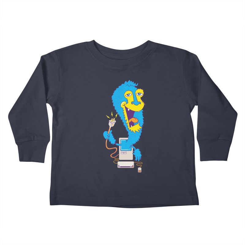 Macintosh the Monster Kids Toddler Longsleeve T-Shirt by jumpy's Artist Shop