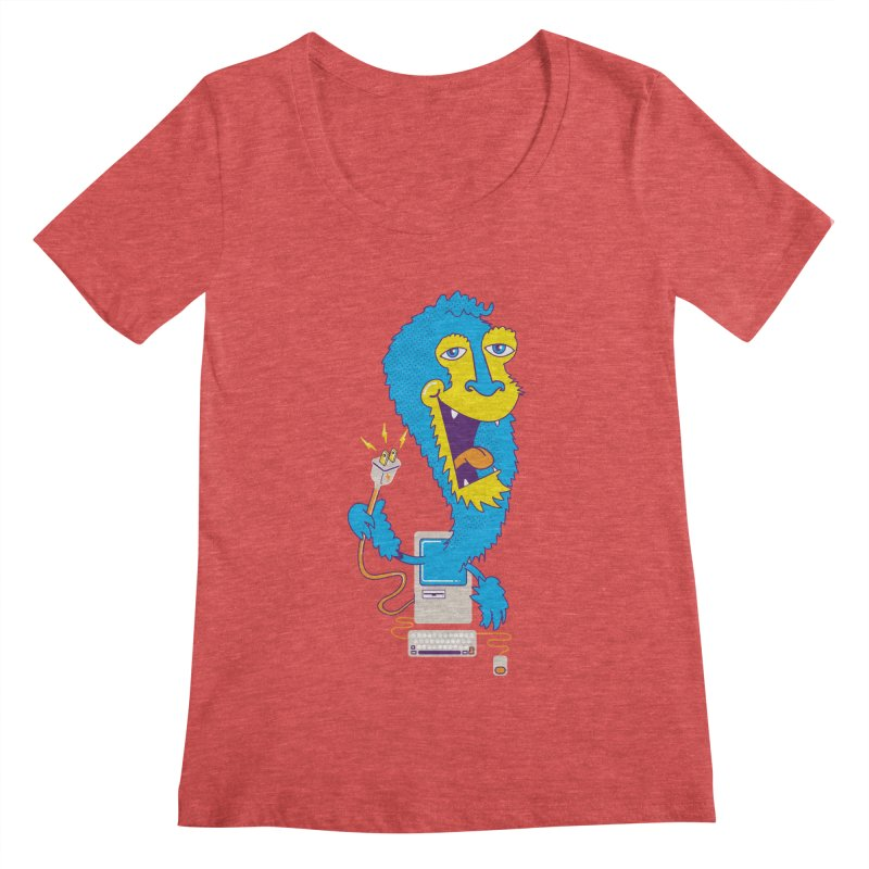 Macintosh the Monster Women's Scoopneck by jumpy's Artist Shop