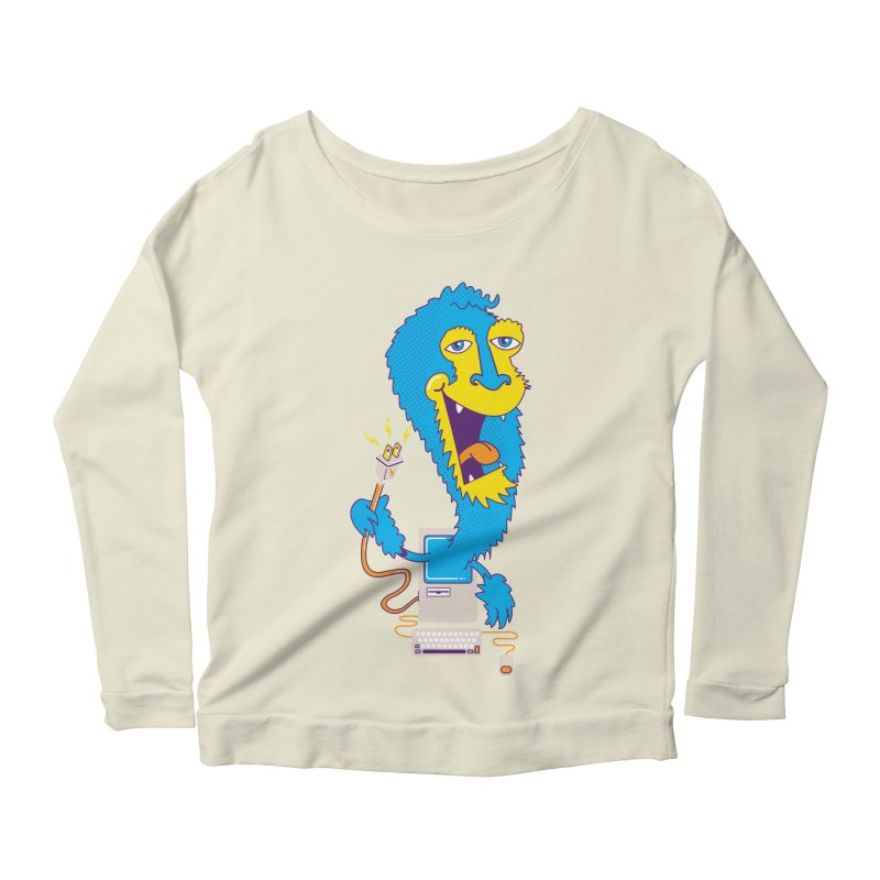 Macintosh the Monster Women's Longsleeve Scoopneck  by jumpy's Artist Shop