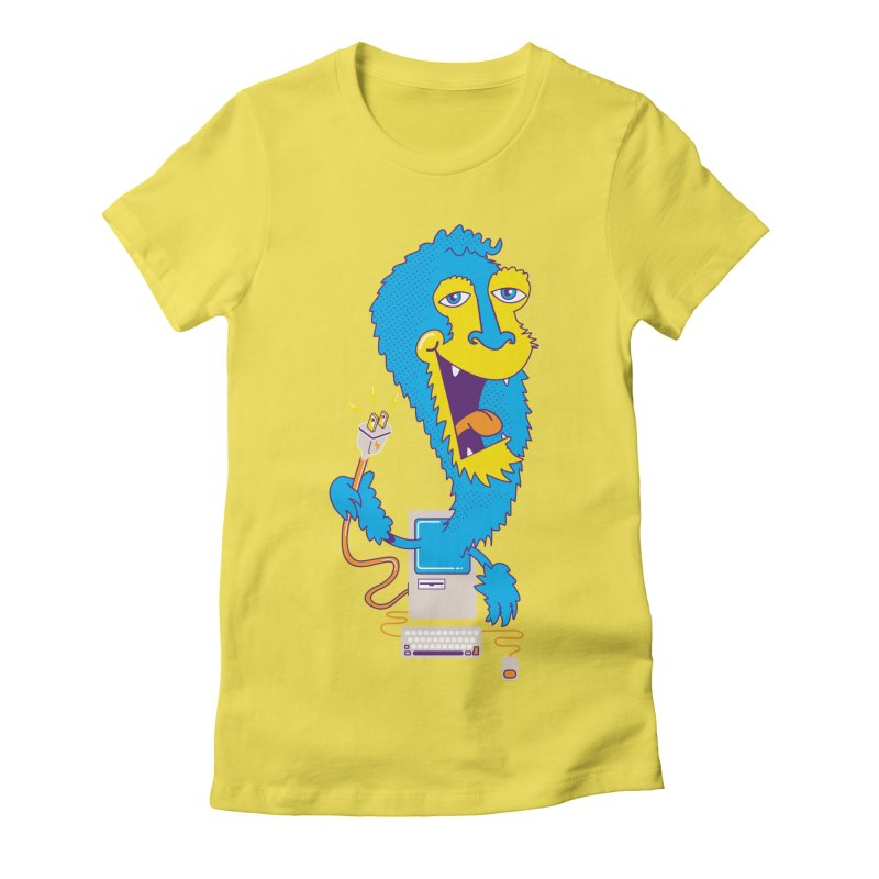 Macintosh the Monster Women's Fitted T-Shirt by jumpy's Artist Shop