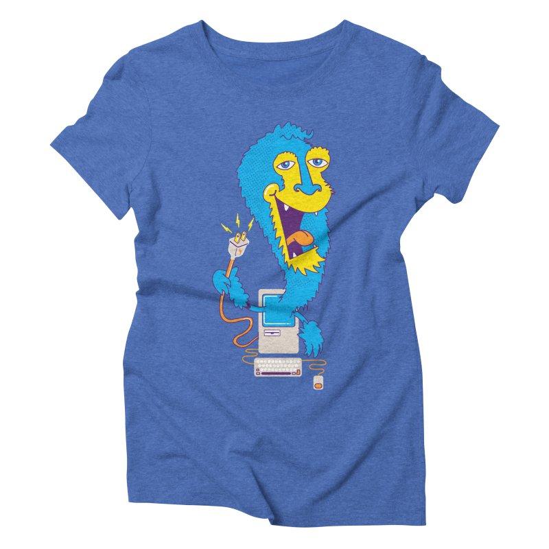 Macintosh the Monster Women's Triblend T-shirt by jumpy's Artist Shop