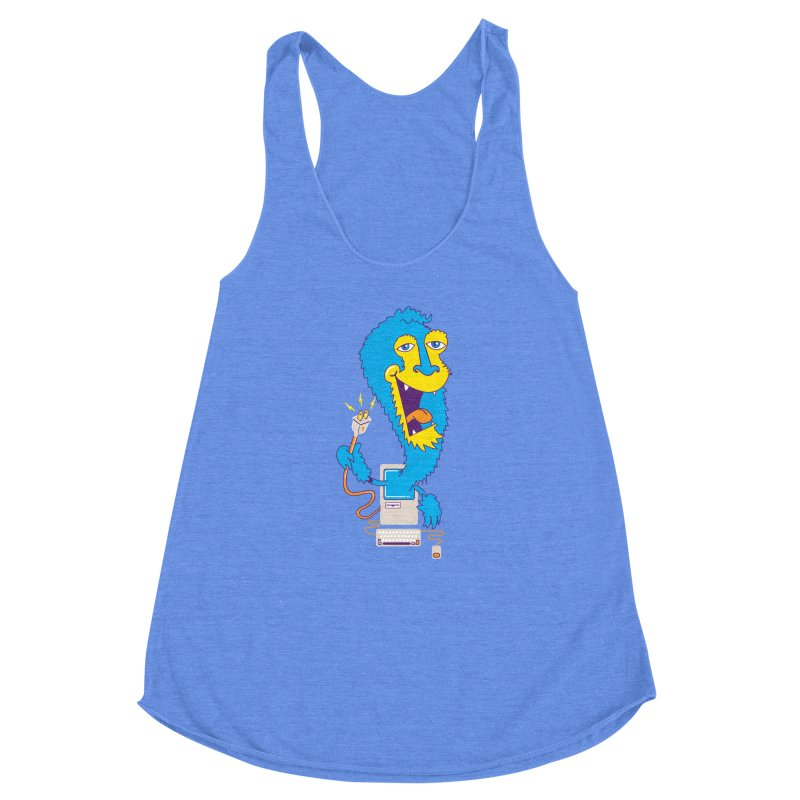 Macintosh the Monster Women's Racerback Triblend Tank by jumpy's Artist Shop
