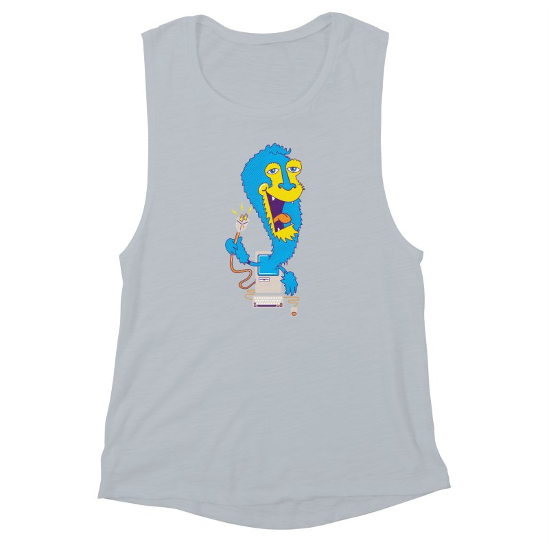 Macintosh the Monster Women's Muscle Tank by jumpy's Artist Shop