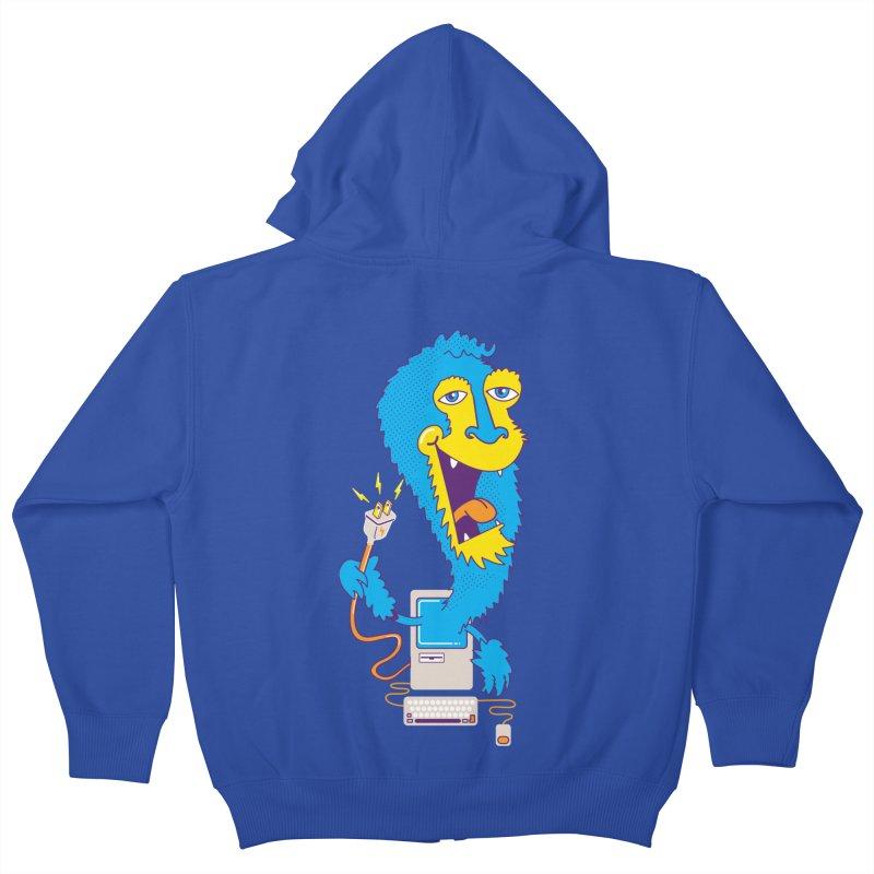 Macintosh the Monster Kids Zip-Up Hoody by jumpy's Artist Shop