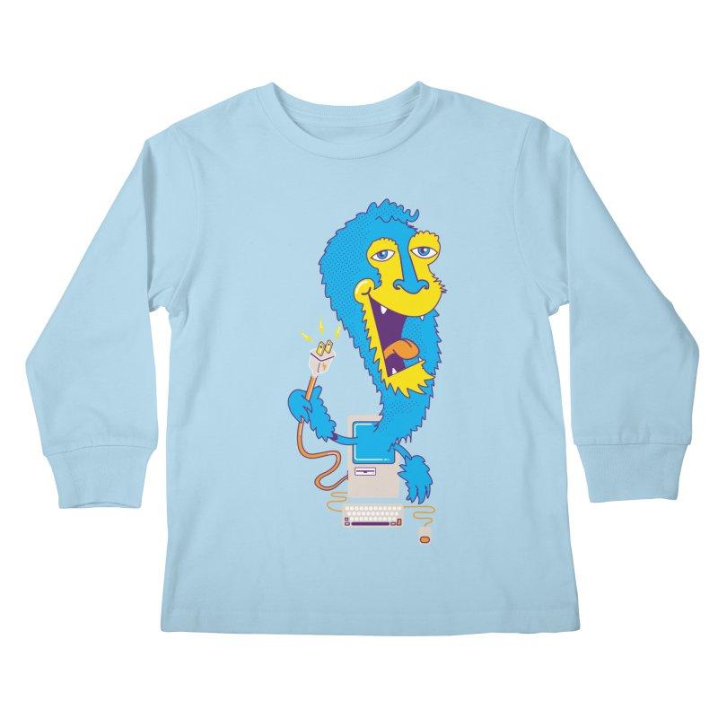 Macintosh the Monster Kids Longsleeve T-Shirt by jumpy's Artist Shop