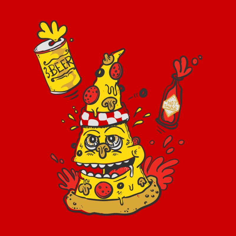 Pizza, Hot Sauce & Beer Men's Triblend T-shirt by jumpy's Artist Shop