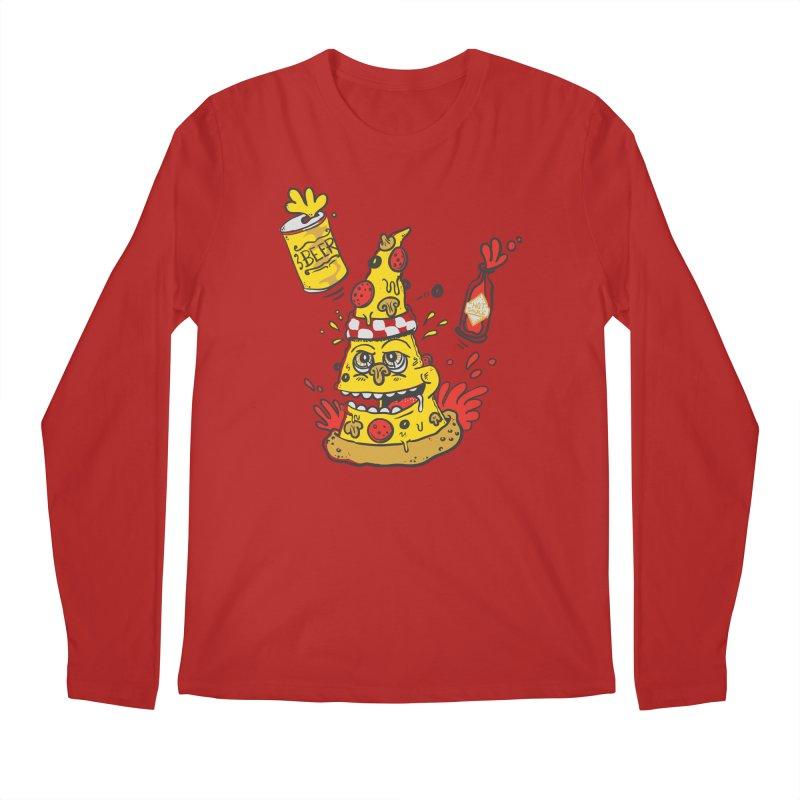Pizza, Hot Sauce & Beer Men's Longsleeve T-Shirt by jumpy's Artist Shop