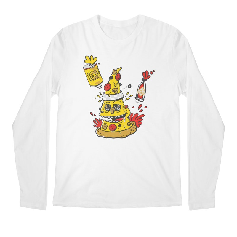 Pizza, Hot Sauce & Beer Men's Longsleeve T-Shirt by jumpy's Artist Shop