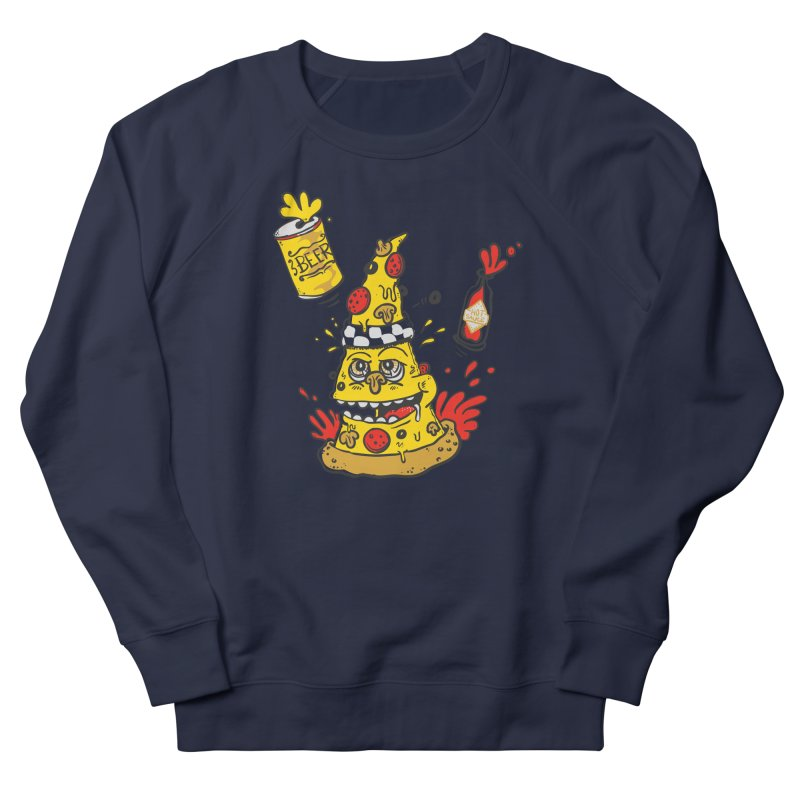 Pizza, Hot Sauce & Beer Men's Sweatshirt by jumpy's Artist Shop