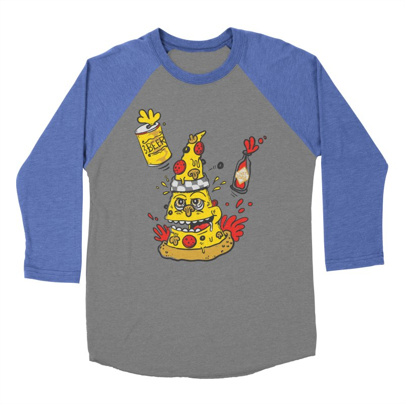Pizza, Hot Sauce & Beer Men's Baseball Triblend T-Shirt by jumpy's Artist Shop