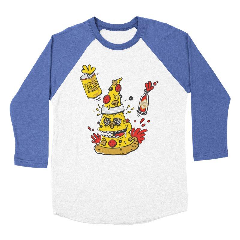 Pizza, Hot Sauce & Beer Men's Baseball Triblend T-Shirt by jumpy's Artist Shop