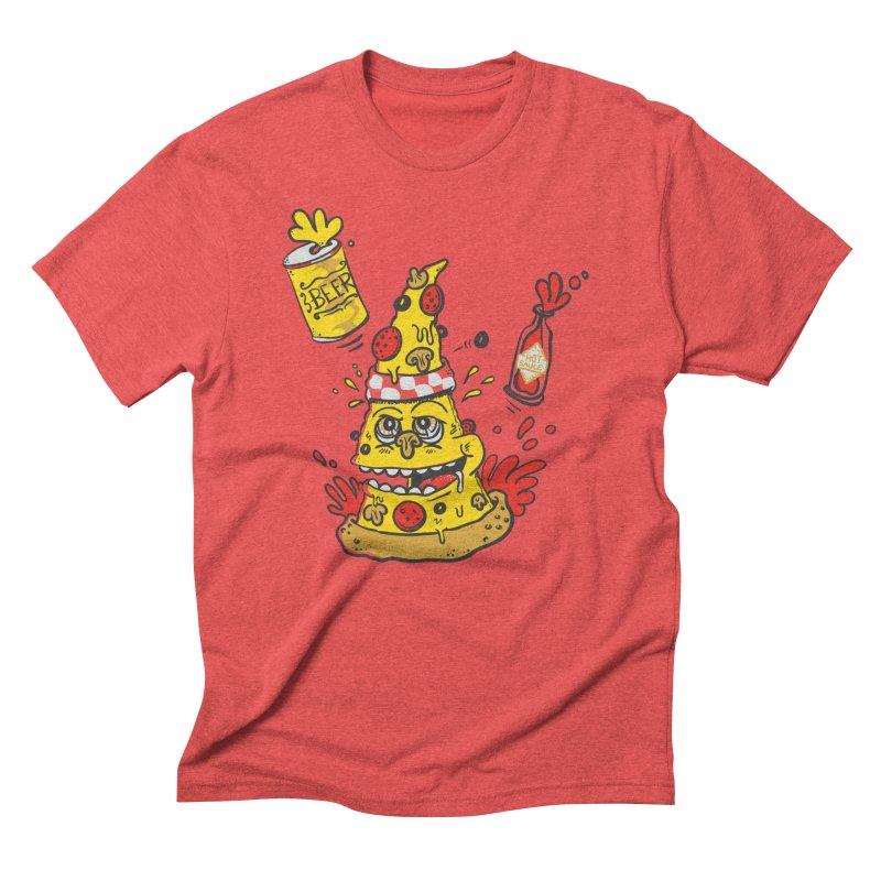 Pizza, Hot Sauce & Beer Men's Triblend T-shirt by jumpy's Artist Shop