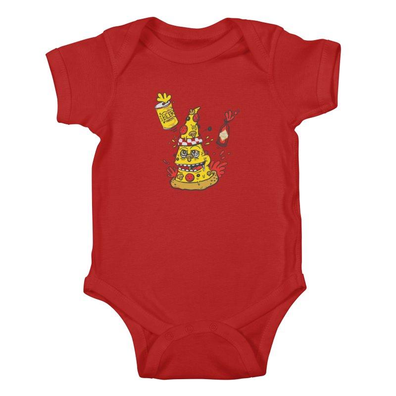 Pizza, Hot Sauce & Beer Kids Baby Bodysuit by jumpy's Artist Shop