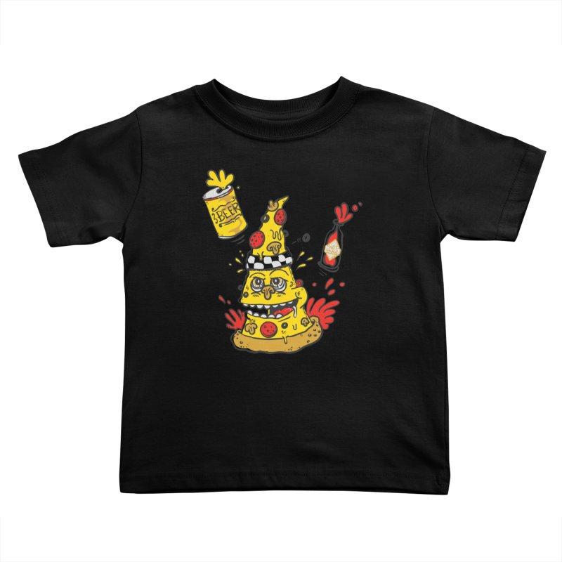 Pizza, Hot Sauce & Beer Kids Toddler T-Shirt by jumpy's Artist Shop