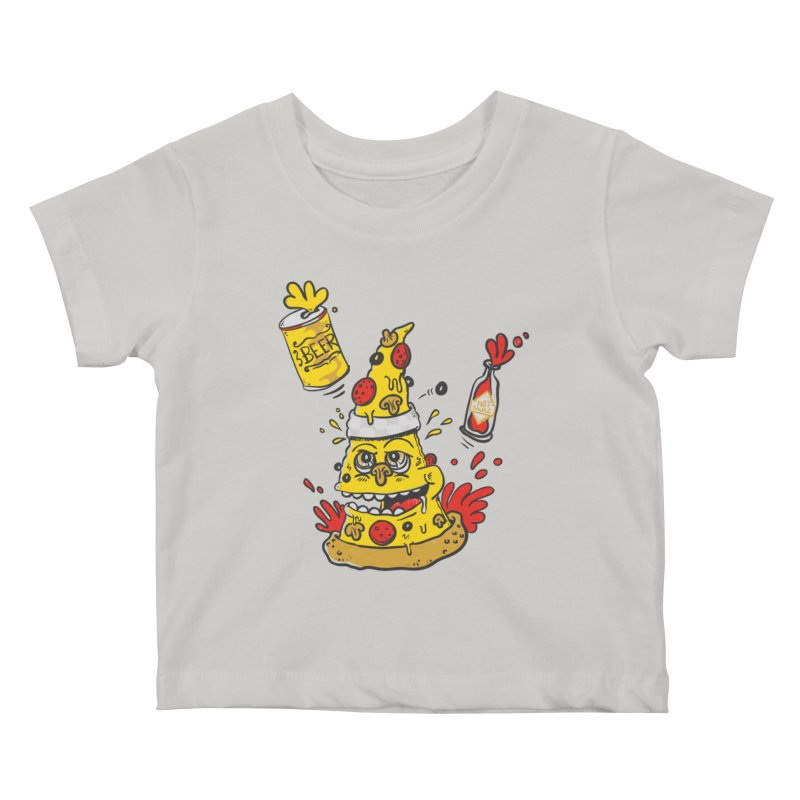 Pizza, Hot Sauce & Beer Kids Baby T-Shirt by jumpy's Artist Shop