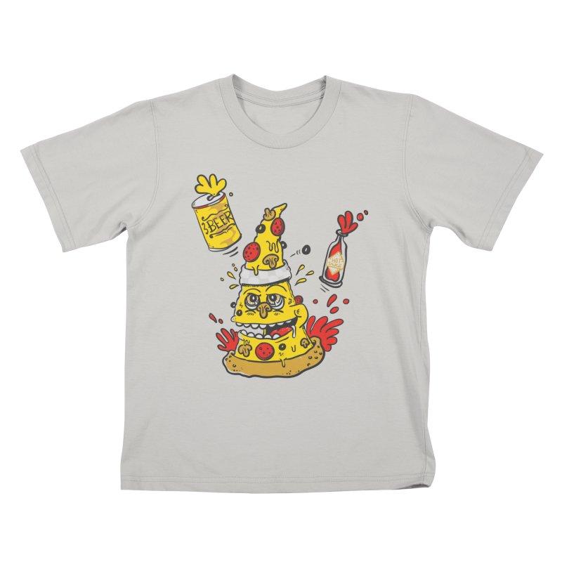 Pizza, Hot Sauce & Beer Kids T-shirt by jumpy's Artist Shop