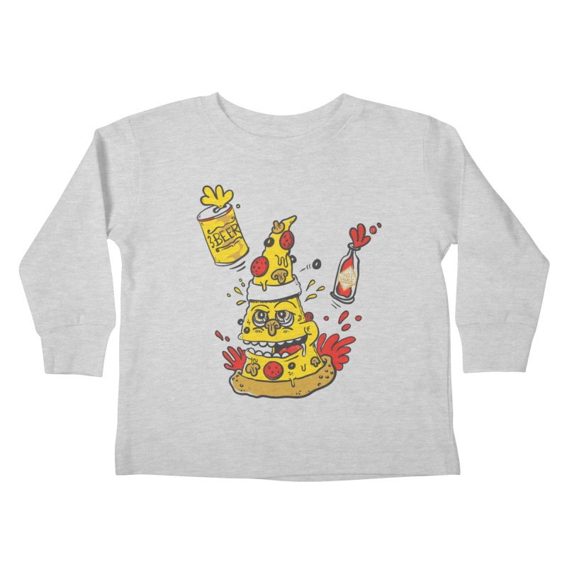 Pizza, Hot Sauce & Beer Kids Toddler Longsleeve T-Shirt by jumpy's Artist Shop